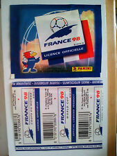 Panini WC France 98 1998  pochette bustina tüte zakje bag Vertical Back