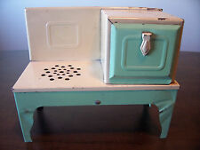 old vintage antique kingston metal tin electric plug in light up toy oven stove