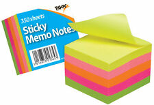 "Stick pad Memo Notes Neon Block Cube Pad 2 x 2"" 350 Sheets 301365"