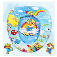 New Character Animation PORORO Toilet Seat Cover Kid Child  Baby Potty Blue