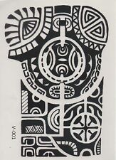 Temporary Tattoo Fake Tattoo Big Tribal 19,5x13,5cm Medium wasserfest(V-001)