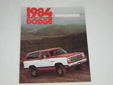 NOS 1984 Dodge Ram Tough Ramcharger AD150 AW150 Color Brochure MINT Condition