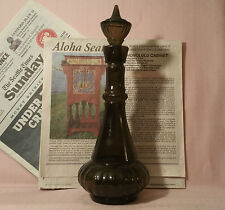 1964 I Dream of Jeannie TV show glass bottle vtg smoked glass jim beam decanter