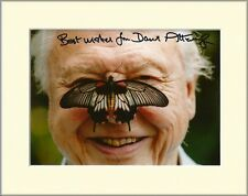 DAVID ATTENBOROUGH LIFE ON EARTH PP 8x10 MOUNTED SIGNED AUTOGRAPH PHOTO