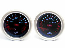 52mm Smoked Oil Pressure & Temp Gauge Impreza Wrx Sti Forester Legacy