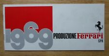 FERRARI 1969 PRODUCTION original Brochure - Dino 206 GT 365 GTC GTB4 GTS  #27/68