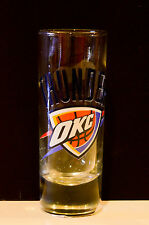 Oklahoma City Thunder NBA Shooter Style Shot Glass 2.5 Ounces  Brand New