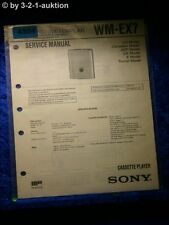 Sony Service Manual WM EX7 Cassette Player (#4954)