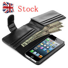 Premium Real Leather Case Flip Wallet Card Holder for iPhone 5/5S UK S