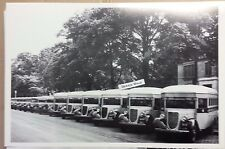 """12 By 18"""" Black & White PICTURE 1936 Ford School Bus Detroit area"""