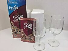Lot Disney Epcot 20th Anniversary Food Wine Festival 2015 Passholder Wine Glass