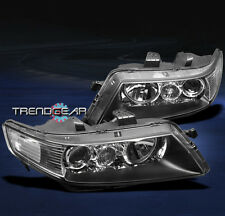 2004-2005 ACURA TSX SEDAN 4DR PROJECTOR HEADLIGHT LAMP JDM BLACK LEFT+RIGHT PAIR