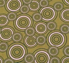 1 yd Green & White Concentric Circles by Hobby Lobby
