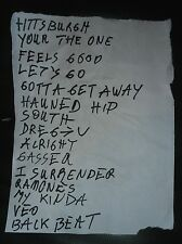 Original Setlist FLESHTONES Festival Beat 2015 Scaletta Garage Rock n Roll