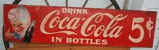 Coca-Cola Wooden Sign Antique Style Hand Painted