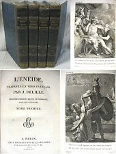 L'Énéide de Virgile / Traduction Delille Latin-Français / 2è édit. Michaud 1813