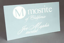 MOSRITE WHITE WATER SLIDE DECAL MAPHIS (version 2) GUITAR HEADSTOCK