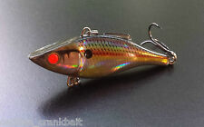 Rattlin Rapala RNR-07 Lure Holo. Shad with Custom GLOWING RED FIBER OPTIC EYES!