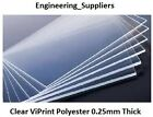 Modelling Glazing Plastic Sheet Clear Transparent Flexible 0.25mm thk A5 to A3