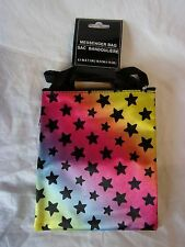 "7 "" X 6 "" RAINBOW PRISM STAR PATTERN PRINT CROSS BODY PURSE MESSENGER BAG TABLET"