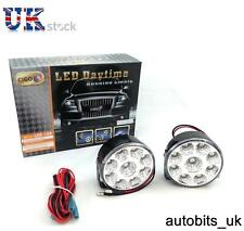 1 Par Blanco 12v 9 LED coche Auto Ronda Drl Daytime día de conducción Niebla Luz Lámpara