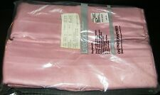 "Vtg JC Penney Pinch Pleated Cotton Lined Drapes Rose Pink 2 Panels 50"" x 45"" NIP"