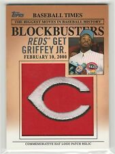 2012 Topps Update Blockbusters Commemorative Hat Logo Patch #BP7 Ken Griffey Jr.
