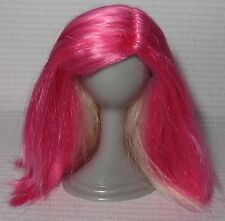 WIG ONLY ~PINK BLONDE REVERSIBLE SPIN MASTER 11.5 LIV DOLL ACCESSORY FOR DIORAMA