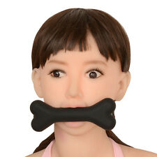 New Soft Silicone Dog Bone Gag head Harness BDSM Kinky Sex Porn Play A608