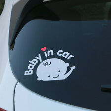2 PCS Baby In Car Baby on Board Safety Sign Car Decal Sticker Silver White Boy