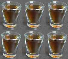 6x Anchor Hocking Whiskey BICCHIERINO Tiratore 1oz CRISTALLERIA Bevanda Bar Pub Party