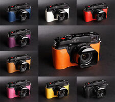 Handmade Real Half Leather Case Camera Case bag for FUJIFILM X-Pro1 10 colors