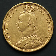 Demi souverain or Victoria 1892 revers Armoiries Half sovereign gold coin