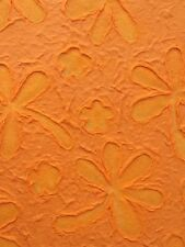 Marigold Lace Embossed Handmade Mulberry paper sheets Scrapbook, photoalbum