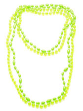 Ladies Neon Green / Clear Beaded Hippy Festival Necklace(Zx63/st57)