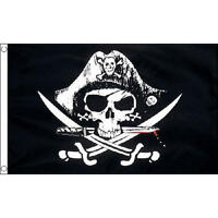 Crossed Sabres Small Flag 3ft x 2ft Skull & Crossbones Pirate Jolly Roger Party