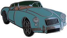 MGA car cut out lapel pin - Turquoise colour