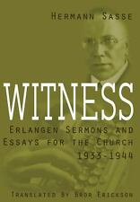 Witness by Hermann Sasse (2013, Hardcover)