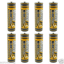 8 x AA 700mAh Ni-Cd Rechargeable Battery For NiCd Solar Panel Light Lamp RC