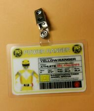Power Ranger  ID Badge-Yellow Ranger  cosplay costume