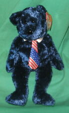 Pops TY Beanie Baby Father's Day Teddy Bear Dark Blue MWMT Birthday June 16 2001