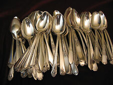 50 Vintage Silverplate Tea Spoon Wedding Restaurant Craft or Table Flatware Lot