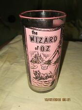 RARE WIZARD OF OZ DRINKING GLASS (MIS-FORMED AT THE TOP)