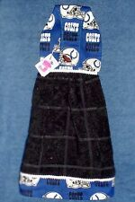 **NEW** NFL Indianapolis Colts Black Hanging Kitchen Fridge Hand Towel #1102