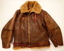 RAF IRVIN SHEEPSKIN FLIGHT JACKET Circa 1941/44  - Original WWII FLYING LEATHER