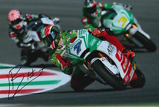 Lorenzo Baldassarri Hand Signed Forward Racing Kalex 12x8 Photo 2015 Moto2.