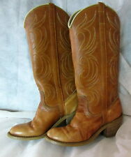 FAB! Vintage DINGO  ACME #7607 Marbled Tan Flaming Wing Western Cowboy Boots 5