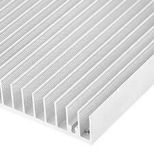 B3 Silver Tone Aluminium Heat Diffuse Heat Sink Cooling Fin 120x100x18mm