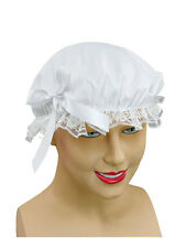 Victorian Maid White Lace Hat Bonnet Fancy Dress Accessory Tudor Book Week Day