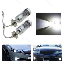 2x H3 100W 20SMD Super Bright #B LED White Fog Tail DRL Head Car Light Lamp Bulb